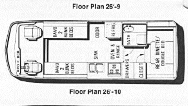 1978 gmc motorhome floor plans - 28 images - gmc motorhome ...